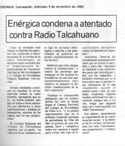 Atentado radio Thno1